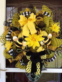 Beeutiful Mesh Wreath. $115.00, via Etsy.