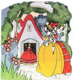 Art, Illustration, Vintage, Cottage