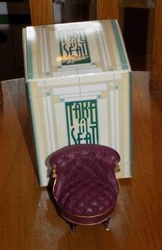 TAKE A SEAT BY RAINE - MINIATURE FURNITURE/DOLLS HOUSE SLIPPER CHAIR C1880   eBay