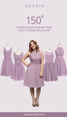 Bridesmaid dresses that will please all of your girls! 100+ styles in 50+ colors with free custom sizing!