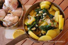 brambory se špenátem nebo mangoldem - blitva