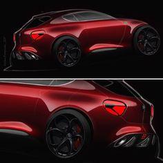 """122 Likes, 4 Comments - Andrea Pomponio (@andrea_pomponio) on Instagram: """"When the passion meets the fun! My MITO concept sketch! #alfaromeo #mito #red #quadrifoglio #italy…"""""""