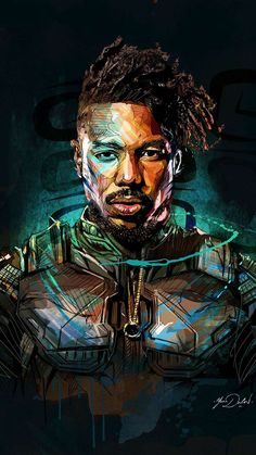 Killmonger Art Black Panther iPhone Wallpaper - iPhone Wallpapers