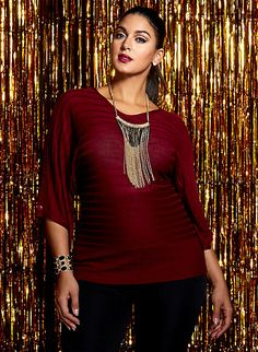 aa83ede4d6b Plus Size Dolman Sleeve Sweater with Buttons