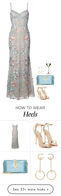 """""""#7273"""" by azaliyan on Polyvore featuring Notte by Marchesa, Nasty Gal, Dolce&Gabbana, Chloé and Riedel"""
