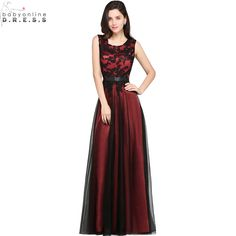 3d26853ebbe9 Burgundy Simple Prom Dresses Cheapest Sleeveless A Line Black Appliqued  Floor Length Evening Gowns