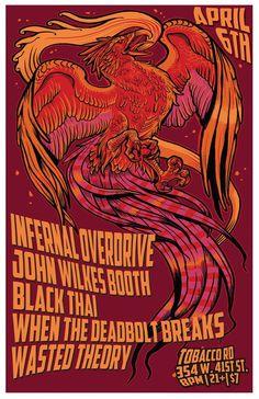 Infernal Overdrive / Black Thai / John Wilkes Booth at Tobacco Road by Brendan Burns