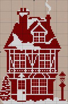 haft krzyżykowy / dom