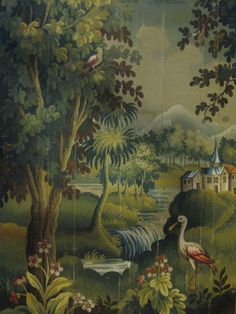 19th century painting from Aubusson