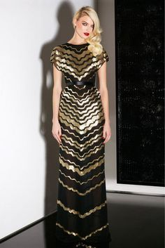 Gold and black from Jason Wu Pre-Fall