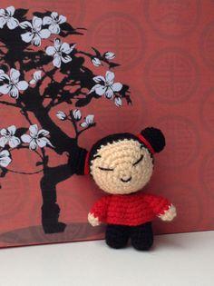 Pucca crochet amigurumi #pucca #handmade #cute