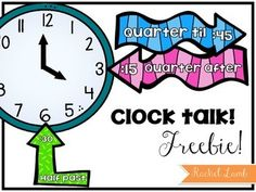 Three quick and cute labels for your classroom analog clock to help your students remember how to talk about time! Includes half past quarter after. Math Work, Fun Math, Teaching Time, Teaching Math, Classroom Labels, Classroom Decor, Autism Classroom, Clock Labels, Second Grade Math