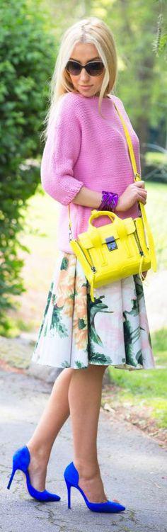 Zara Pink Knit 3/4 Sleeve Sweater
