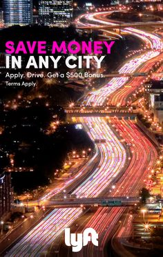 Give rides, get cash. With Lyft, it's never been easier to save extra cash in almost any city. Visit lyft.com and see how you can earn up to $35/hr plus a $500 bonus after you give 100 rides. *Terms Apply*
