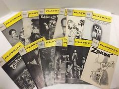Broadway-Playbills-Lot-12-1960s-Fiddler-Superman-Mame-Oliver-Odd-Couple
