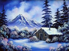 Mountain Cabin (9x12) / Small Oil Painting Exercise / Encore Edition