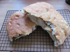Rosemary and garlic focaccia stuffed with parmesan cheese and caramelised onion chutney