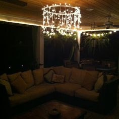 Patio Chandelier...DONE!