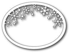 Memory Box - Die - Snowflake Oval Frame,$25.50