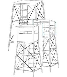 6X8 Deer Blind Plans | ... Deer Hunting Blind DIY BuildYourOwn Texas Style Tall Towers & Blinds