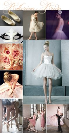 Ballerina Bride wedding inspiration board...