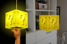 Super Mario Box Lamp - just another reason my children will be awesome