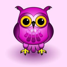 purple owl by Sylvie Bouchard
