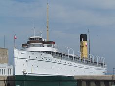 S.S. Keewatin - historic passenger liner that is 5 years older than the Titanic is on her way home to Port McNicoll, Ontario. Keewatin  is said to be the last true Edwardian Era Steamer left in the world.