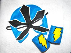 Blue Power Ranger Mask set by CapesNCrowns on Etsy