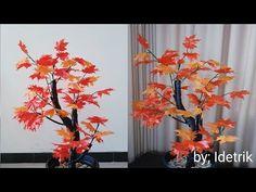 HOME ROOM DECORATION IDEAS | HIAS RUANG RUMAH CANTIK DARI KANTONG PLASTIK BEKAS (PLASTIK BEKAS) - YouTube Flower Pot Crafts, Paper Flowers Craft, Diy Flowers, Flower Pots, Paper Crafts, Diy Crafts, Flower Stamen, Plastic Bottle Crafts, Diwali Gifts