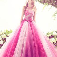 #regram from @kiyoko_hata あふれ出る透明感と、フェミニンな愛らしさが 特徴の『#キヨコハタ 』のカラードレス* #オーロラ姫 みたいなお色にきゅんっ♡ #kiyokohata #weddingdress #colordress #ウェディングドレス #カラードレス #お色直し #披露宴 #リボン #ピンク #結婚式 #結婚式準備 #プレ花嫁 #marryxoxo # # #