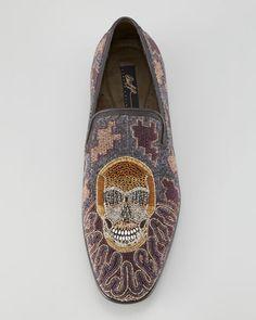 Donald J Pliner Pascow Skull Beaded Loafer