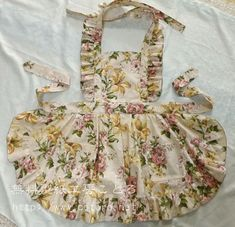 Frilly apron Japanese sewing pattern.