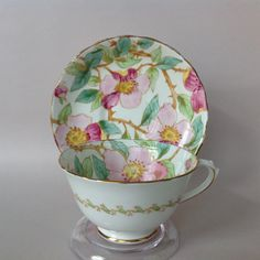 tuscan fine bone china made in england pink chintz tea cup & saucer - Google Search