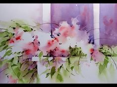 (30) 'Window Box' Transparent Watercolor Negative Painting Demonstration - YouTube