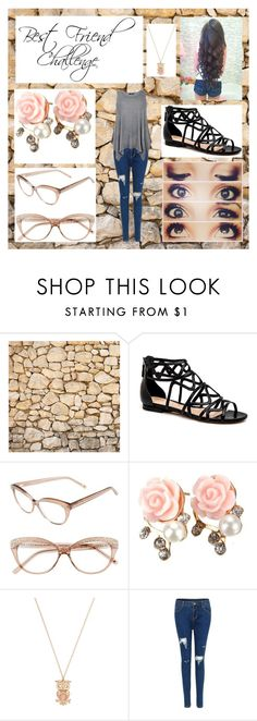 """""""Best Friend Challenge - Janica"""" by enchantedarticgem ❤ liked on Polyvore featuring Kate Spade, Forever 21 and plus size clothing"""