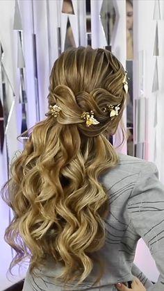 By: @fshairdo Baddie Hairstyles, Pretty Hairstyles, Braided Hairstyles, Bridal Hair Updo, Glam Hair, Bike Style, Gorgeous Hair, Hair Hacks, Updos