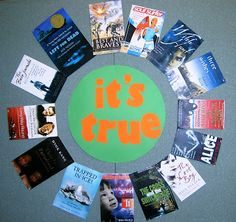 It's true. Library bulletin board. Library display. Photo idea only, no link.
