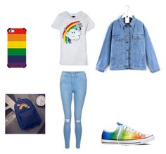"""""""I love rainbows"""" by chaimae-megherbi on Polyvore featuring mode, Converse, Target, Quintess, New Look et Casetify"""