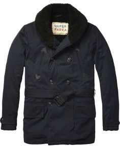 Coat With With Teddy Shawl Collar - Scotch & Soda