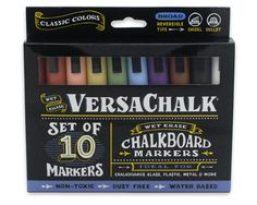 Classic Color Liquid Chalk Markers for Chalkboards, Glass, Metal, Ceramic, and more!