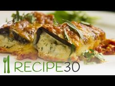 Eggplant Rollatini – Easy Meals with Video Recipes by Chef Joel Mielle – RECIPE30  -  http://www.recipe30.com/eggplant-rollatini.html/