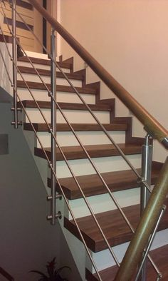 Zábradlí Stair Railing Design, Under Stairs, Planters, Steel, Home Decor, Stairs, Decoration Home, Room Decor, Planter Boxes