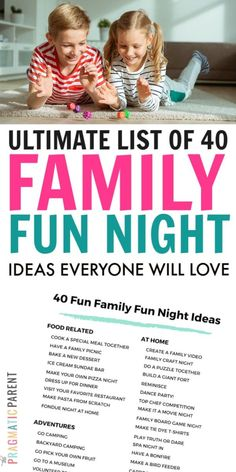 Ultimate List of 40 Best Family Night Ideas to Try With Kids