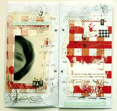 Black & White and Red. Art journal inspiration. Untitled | Flickr - Photo Sharing!