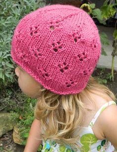 Hand Knit Alpaca and Silk Eyelet Child's Hat by jaimalaya on Etsy