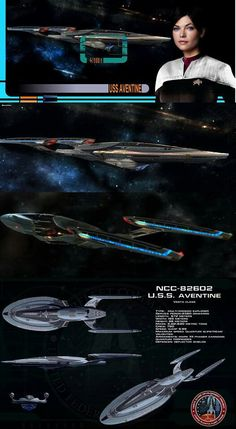 U.S.S. Aventine NCC-86202. The USS Aventine (NCC-82602) is a Vesta-class Federation starship in Starfleet service in the late 24th century. As of the year 2381, Aventine was under the command of Captain Ezri Dax, with a crew of about 750.