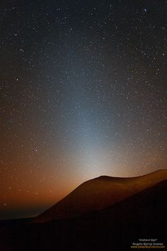Zodiacal light is the glow from decomposition of dead comets, killed by Jupiter and the Sun.