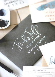White Modern Calligraphy | A Fabulous Fete