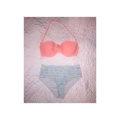 Cute Bikini Two piece bikini. Pieces can be mixed and matched with other tops and bottoms. Top has detachable string. Top is size medium and bottom is size small. Worn once. Forever 21 Swim Bikinis